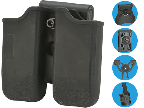 Matrix Hardshell Adjustable Magazine Holster for Sig P226 / Beretta M9 Series Pistol Mags (Mount: Paddle Attachment)