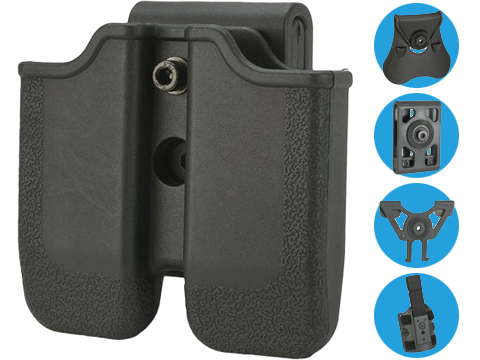 Matrix Hardshell Adjustable Magazine Holster for 1911 Series Pistol Mags (Mount: Belt Attachment)
