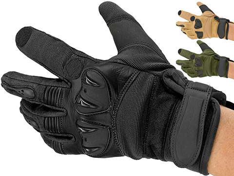 Matrix Tactical Knuckle Protector Leather Shooting Gloves