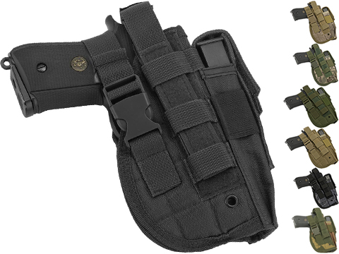 Matrix Universal MOLLE / Belt Mount Holster for Handguns pistols (Color: Black)