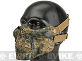 Matrix Iron Face Skull Imprint Nylon Lower Half Mask (Color: Digital Woodland)