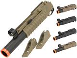 Matrix 40mm M203 Grenade Launcher for M4 M16 Series Airsoft Rifles (Model: Long Type / Black)