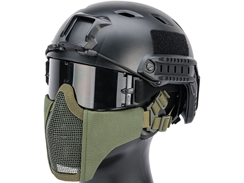 Matrix Low Profile Iron Face Padded Lower Half Face Mask (Color: OD Green)