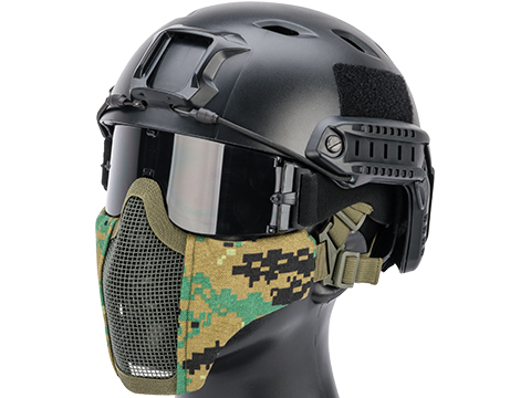 Matrix Low Profile Iron Face Padded Lower Half Face Mask (Color: Digital Woodland)