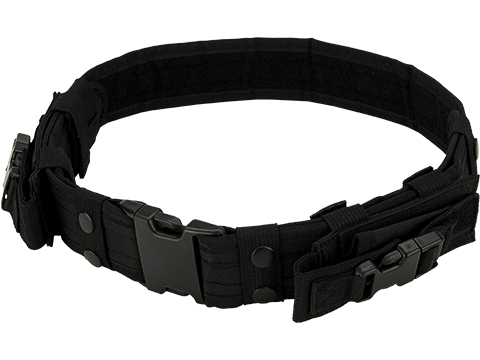Matrix Tactical Ballistic Nylon Pistol Belt w/ Mag Pouches (Color: Black)
