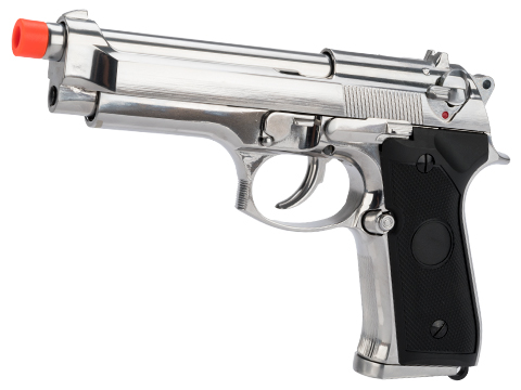 Matrix Elite Tokyo Marui Clone M9 Gas Blowback Airsoft GBB Pistol (Color: Silver / Full Metal)