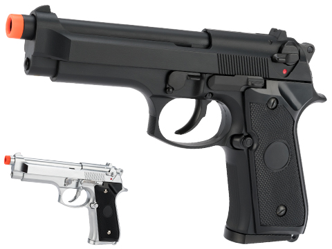 Matrix Elite Tokyo Marui Clone M9 Gas Blowback Airsoft GBB Pistol (Color: Black / Full Metal)