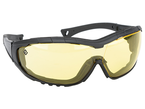 Evike.com Axis Tactical Goggles by Valken (Color: Black Frame / Yellow Lens)