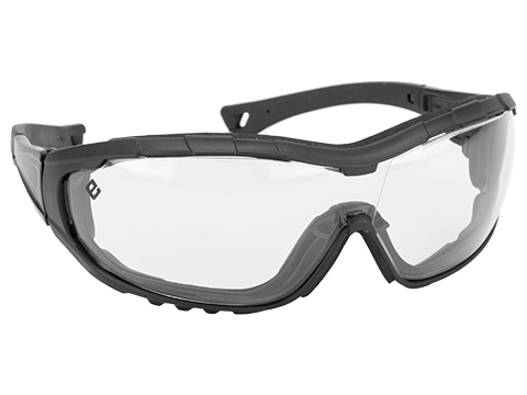Evike.com Axis Tactical Goggles by Valken (Color: Black Frame / Clear Lens)