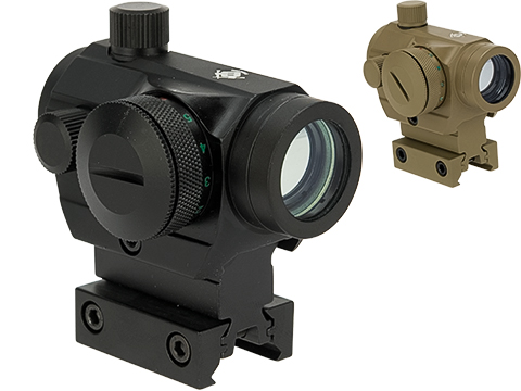 Matrix  / Evike.com T1 Style Micro Red/Green Dot Reflex Sight with Medium Height Riser (Color: Black)
