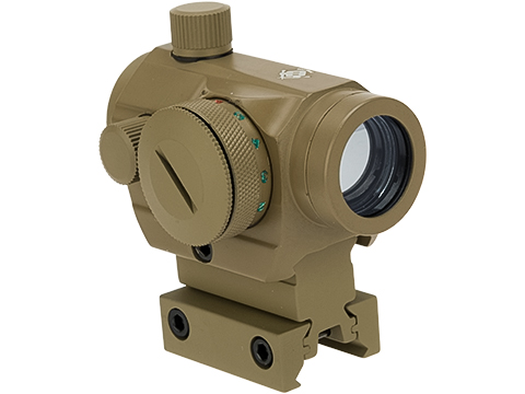 Matrix  / Evike.com T1 Style Micro Red/Green Dot Reflex Sight with Medium Height Riser (Color: Tan)