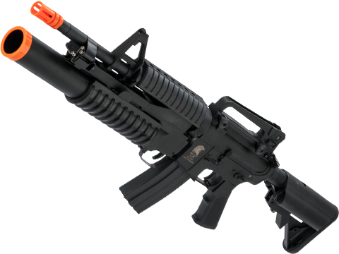 Matrix Sportsline M4 Airsoft AEG Rifle w/ G2 Micro-Switch Gearbox (Model: M4 M203 / Black)