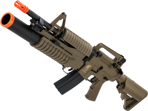 Matrix Sportsline M4 Airsoft AEG Rifle w/ G2 Micro-Switch Gearbox (Model: M4 M203 / Dark Earth)