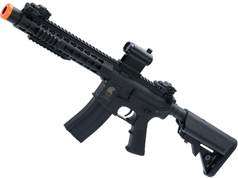Matrix / S&T Sportsline M4 RIS Airsoft AEG Rifle w/ G3 Micro-Switch Gearbox (Model: Black Keymod 10 w/ Suppressor)