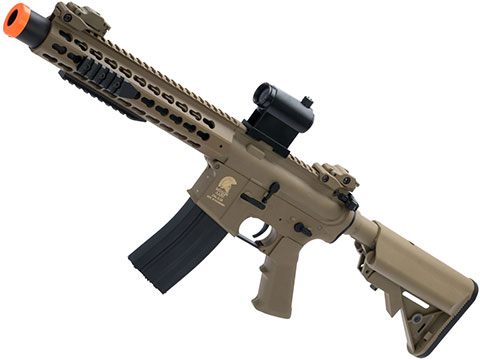 Matrix Sportsline M4 RIS Airsoft AEG Rifle w/ G2 Micro-Switch Gearbox (Model: Dark Earth Keymod 10 w/ Suppressor)