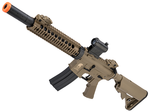 Matrix / S&T Sportsline M4 RIS Airsoft AEG Rifle w/ G2 Micro-Switch Gearbox (Model: Dark Earth CQB-R 9 Rail)