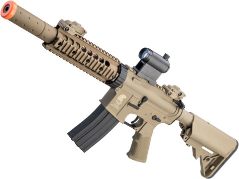 Matrix / S&T Sportsline M4 RIS Airsoft AEG Rifle w/ G3 Micro-Switch Gearbox (Model: Dark Earth CQB-R)
