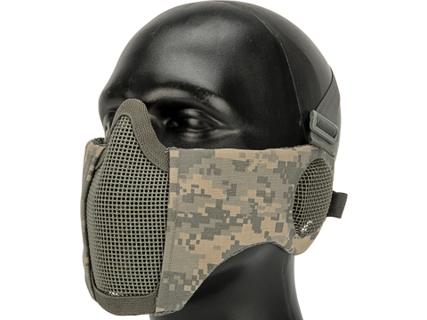 Matrix Carbon Striker Mesh Mask with Integrated Ear Protection (Color: ACU)