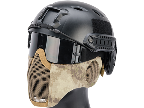 Matrix Carbon Striker Mesh Mask w/ Integrated Mesh Ear Protection (Color: Arid)