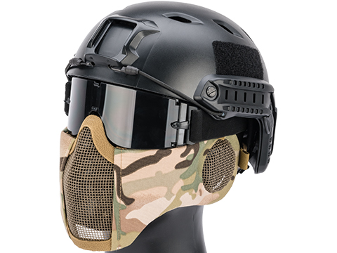 Matrix Carbon Striker Mesh Mask w/ Integrated Mesh Ear Protection (Color: Camo)