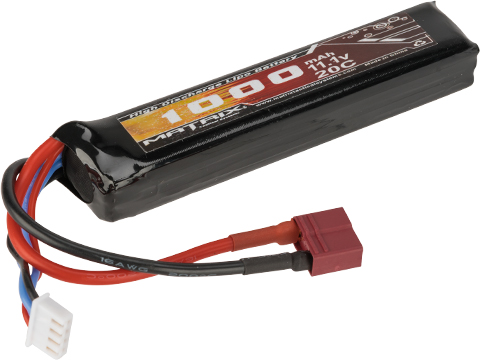 Matrix High Performance 11.1V Stick Type Airsoft LiPo Battery (Configuration: 1000mAh / 20C / Deans & Long Wire)