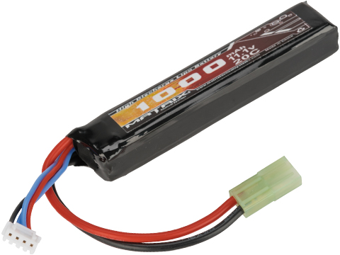Matrix High Performance 11.1V Stick Type Airsoft LiPo Battery (Configuration: 1000mAh / 20C / Small Tamiya & Long Wire)
