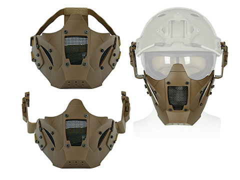 Matrix Iron Warrior Polymer and Mesh Modular Face Mask (Color: Tan)