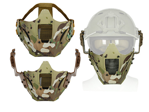 Matrix Iron Warrior Polymer and Mesh Modular Face Mask (Color: Camo)