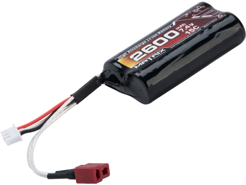 Matrix High Performance 7.4V Brick Type Airsoft Li-Ion Battery (Configuration: 2600mAh / 15C / Deans)