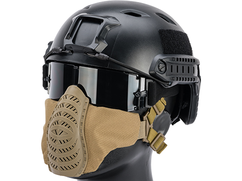 Matrix Low Profile Tactical Padded Lower Half Face Mask (Color: Tan)