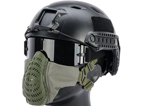 Matrix Low Profile Tactical Padded Lower Half Face Mask (Color: Ranger Green)