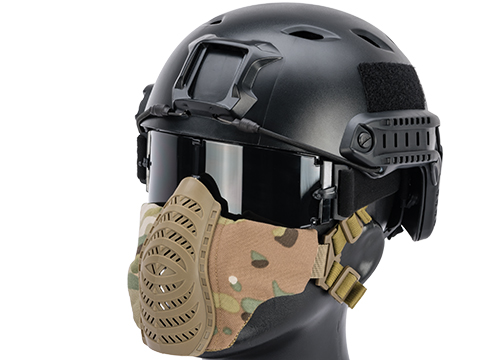 Matrix Low Profile Tactical Padded Lower Half Face Mask (Color: Camo)