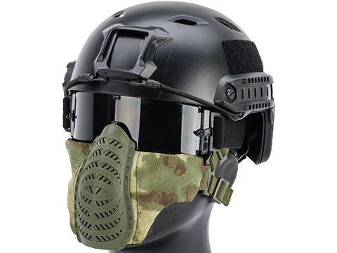 Matrix Low Profile Tactical Padded Lower Half Face Mask (Color: ATACS FG)