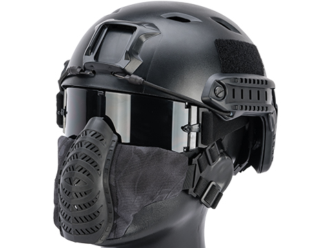 Matrix Low Profile Tactical Padded Lower Half Face Mask (Color: Urban Serpent)