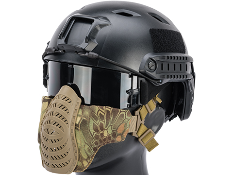 Matrix Low Profile Tactical Padded Lower Half Face Mask (Color: Highlander)