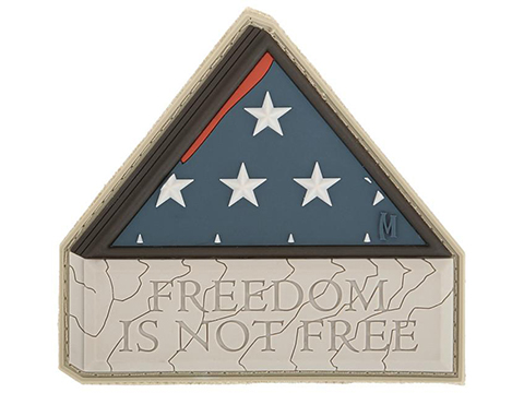 Maxpedition Freedom Is Not Free PVC Morale Patch (Color: Arid)