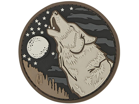 Maxpedition Wolf PVC Morale Patch (Color: Arid)