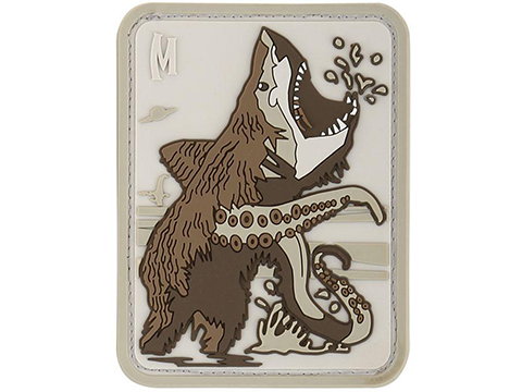 Maxpedition Bear Sharktopus PVC Morale Patch (Color: ARID)