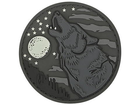 Maxpedition Wolf PVC Morale Patch (Color: Glow in the Dark)