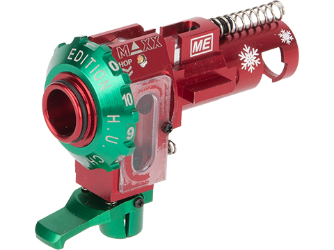 Maxx Model CNC Aluminum Hopup Chamber for M4 / M16 Series Airsoft AEG Rifles (Model: ME - PRO / Limited Edition Red)