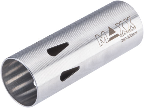 Maxx Model CNC Hardened Stainless Steel Airsoft AEG Cylinder (Model: Type D / 250-300mm)