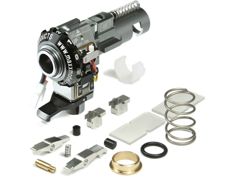 Maxx Model CNC Aluminum Hopup Chamber for M4 / M16 Series Airsoft AEG Rifles (Model: IE - PRO w/ LED)