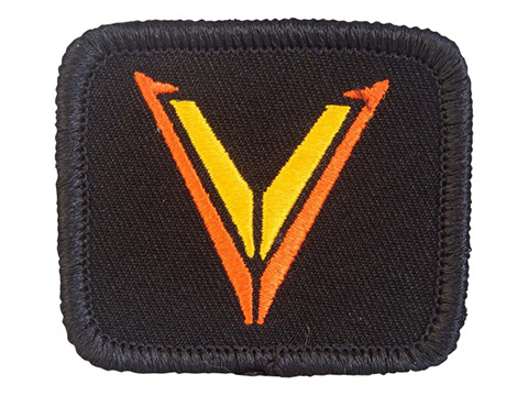 Velocity Systems Embroidered Hook & Loop Morale Patch (Color: Black & Orange)