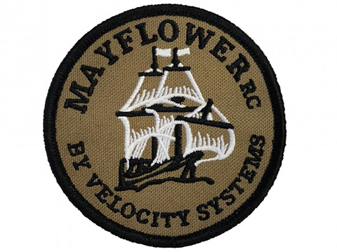 Mayflower RC by Velocity Systems Embroidered Hook & Loop Morale Patch (Color: Coyote Brown)