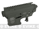 G&P AR-15 Type Aircraft Aluminum Metal Receiver for M4 M16 Series Airsoft AEG - Foliage Green