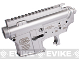 G&P AR-15 Type Aircraft Aluminum Metal Receiver for M4 M16 Series Airsoft AEG - Silver