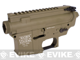 Matrix Tactical Systems Laser Engraved Metal Body Receiver Set For M4 / M16 Series Airsoft AEG - Tan