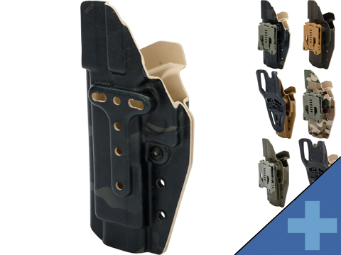 MC Kydex Airsoft Elite Series Pistol Holster for Glock 17/22/33 (Model: Black / No Attachment / Right Hand)