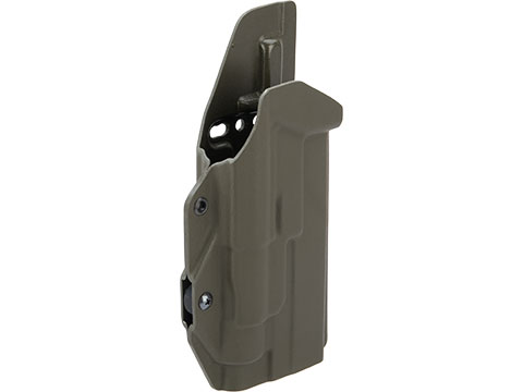 MC Kydex Airsoft Elite Series Pistol Holster for Glock 19/17/22/33 w/ TLR-1 Flashlight (Model: OD Green / No Attachment / Right Hand)