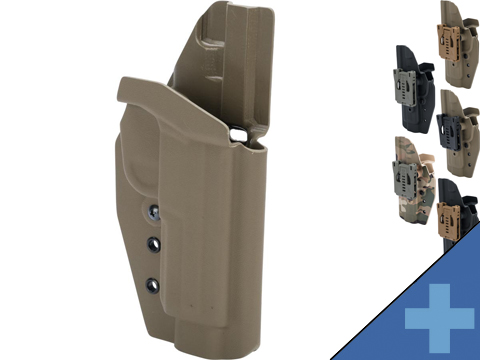 MC Kydex Airsoft Elite Series Pistol Holster for FNX 45 Pistols (Model: Black / No Attachment / Right Hand)
